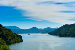 Free Incoming Ferry Through A Fjord Stock Photos - 18634193