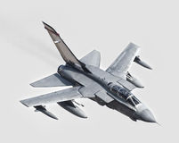Incoming fighter jet. Incoming low level RAF GR4 Tornado fighter jet in LFA7 Royalty Free Stock Photo
