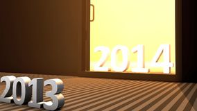 Incoming new year, 2014. stock video footage