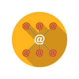 Incoming and outgoing emails flat icon Royalty Free Stock Image