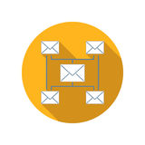 Incoming and outgoing messages flat icon Stock Photos