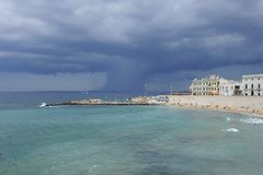 Incoming storm. A storm over the sea. rain is coming Stock Photography