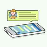 Incoming text message Royalty Free Stock Images