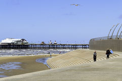 Incoming tide in Blackpool North Royalty Free Stock Images