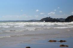 Incoming tide at blackrock Sands, Wales. Stock Image