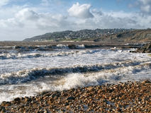 Incoming Tide At Charmouth, Dorset Royalty Free Stock Images