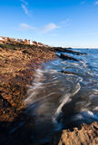 Incoming tide at the coast in Anstruther, Scotland Stock Photos