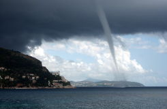 An incoming twister in Dubrovnik, Croatia Stock Photo
