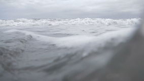 Incoming wave stock footage