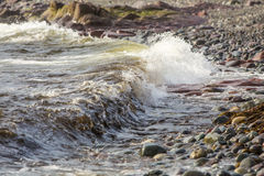 Incoming wave, St. Bride's, Newfoundland Royalty Free Stock Image