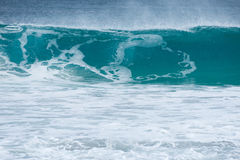 Incoming wave about to break. A wave on the verge of breaking close to shore Stock Photography