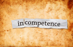 Incompetence concept Stock Image