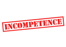 INCOMPETENCE Royalty Free Stock Photography