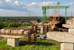 Incomplete bridge construction Stock Image