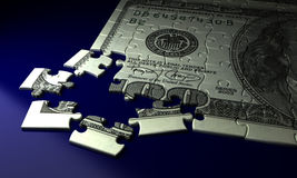 Incomplete Dollar Puzzle stock images