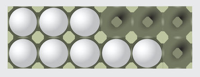 Incomplete egg tray Stock Photos