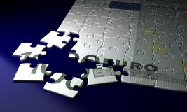 Incomplete Euro Puzzle Royalty Free Stock Image
