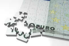 Incomplete Euro Puzzle royalty free stock images