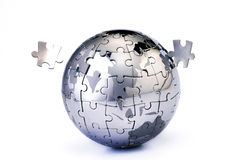 Incomplete Globe puzzle Royalty Free Stock Image