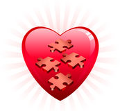 Incomplete Heart Puzle Royalty Free Stock Image