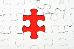 Incomplete Jigsaw puzzle Stock Image