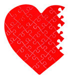 Incomplete jigsaw puzzle in a shape of a heart Royalty Free Stock Photography