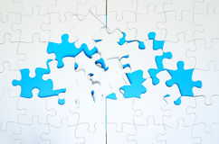 Incomplete Jigsaw Puzzles Stock Images