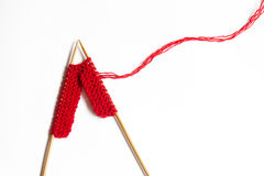 Incomplete knitting project Royalty Free Stock Images