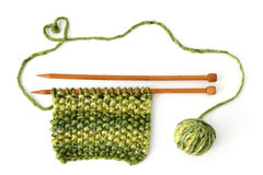 Incomplete knitting project Stock Photography