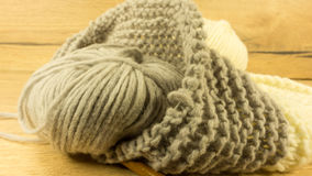 Incomplete knitting project Royalty Free Stock Photography
