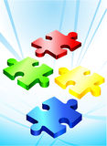 Incomplete Puzzle Pieces.  Royalty Free Stock Image