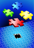 Incomplete Puzzle Set Royalty Free Stock Photography