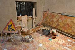 Incomplete rustic andalusian courtyard Stock Photos