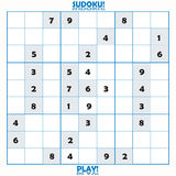 Incomplete Sudoku puzzle Royalty Free Stock Image