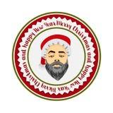 Inconformista atrevido coloreado Santa Claus del logotipo plano libre illustration