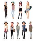 Inconformista de moda de la muchacha ilustración del vector