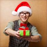 Inconformista en Santa Claus Fotografía de archivo libre de regalías