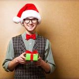 Inconformista en Santa Claus Fotos de archivo libres de regalías