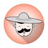 Inconformista en sombrero Fotografía de archivo libre de regalías