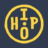 Inconformista redondo circular dibujado mano Logo Label de Hip Hop libre illustration