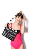 Inconformista rubio de moda elegante de la muchacha Imagen de archivo