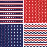 Inconsútil azul blanco rojo de los fondos del Día de la Independencia ilustración del vector