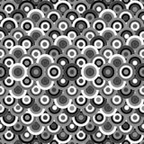 Inconsútil blanco y negro con los ornamentos redondos Fotografía de archivo