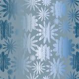 Inconsútil con las flores azules del metal Imagen de archivo libre de regalías