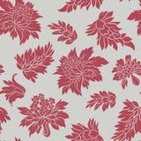 Inconsútil con las flores rojas Imagen de archivo