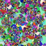 Inconsútil con las rondas coloreadas extracto libre illustration