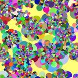 Inconsútil con las rondas coloreadas extracto ilustración del vector