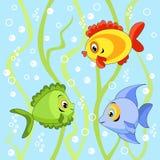 Inconsútil con los pescados. Fotos de archivo libres de regalías