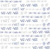 Inconsútil con los símbolos de la álgebra para el fondo Foto de archivo libre de regalías
