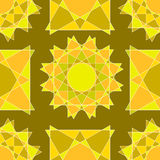 Inconsútil de figuras marrones claras y anaranjadas claras abstractas y sh Foto de archivo